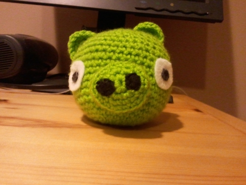 And a 10yo boy. My on the fly attempt at the Angry Bird Pig.